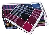 Tobeni 12 Fazzoletti per gli uomini 100 tessuto di cotone colorato o bianco, Colore:Design 29;Dimensione:41 cm x 41 cm