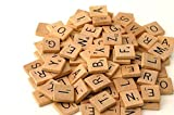 Wood Scrabble Tiles - NEW Scrabble Letters Great for Crafts, Pendants, Spelling (100PCS wooden of ONE pack) by flyco
