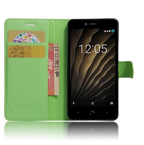 Tasche für BQ Aquaris U Lite Hülle, Manyip PU Ledertasche Flip Cover Wallet Case Handyhülle mit Stand Function Credit Card Slots Bookstyle Purse Design