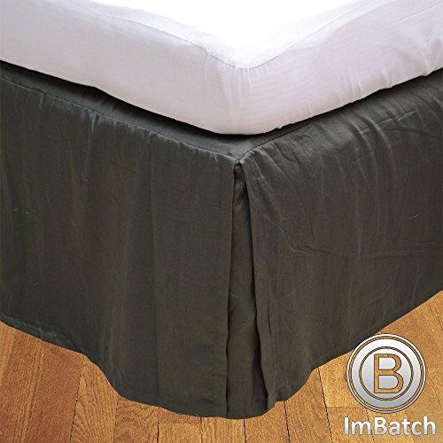 RoyalLinens 600tc 100% ägyptische Baumwolle elegant Finish 1Box Bundfaltenhose Bettvolant massiv (Drop Länge: 76,2cm), Baumwolle, Elephant Grey Solid, Single Extra Long