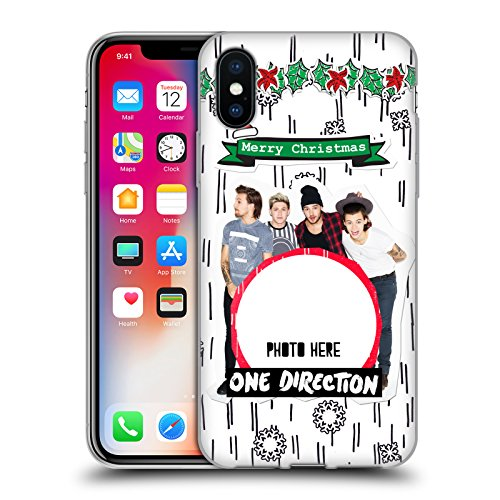 Personalizzata Personale One Direction 1D Solo Testo Personalizzato Natale Cover Morbida In Gel Per Apple iPhone X Palla Di Natale