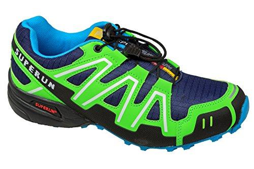 gibra , Chaussures de course pour homme dunkelblau/neongrün