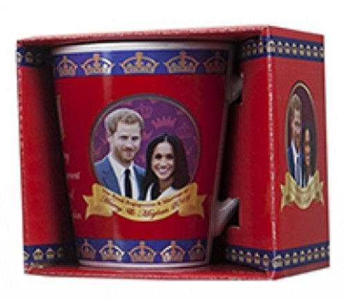 Gifts 4 All Occasions Limited SHATCHI-1055 PMS Royal Wedding 2018 Keramik-Tasse, mehrfarbig