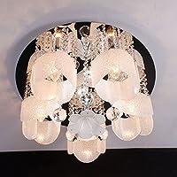 CNMKLM La Principessa romantica camera Lampade da soffitto camera da letto di moda fiori di cristallo di illuminazione a soffitto camera studio luci a soffitto