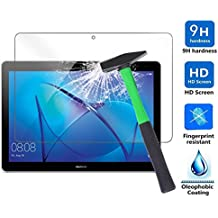 Huawei MediaPad T3 10.0 inch Generation Protector de Pantalla, Infiland Premium Protector de Pantalla de Vidrio Templado para Huawei MediaPad T3 10.0 inch IPS Tablet PC Película de acero