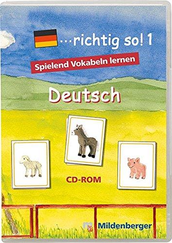 .richtig so! 1. Deutsch. CD-ROM für Windows ab 98SE: Einzellizenz. 1. bis 4. Klasse