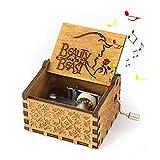 Mano Pura Juego de Tronos clásico Caja de música Mano Caja de música de Madera artesanía de Madera Creativa Mejores Regalos 'La bella y la bestia'
