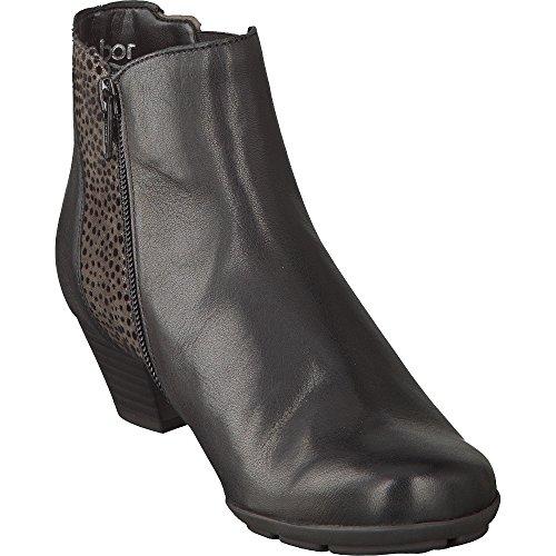 Gabor Shoes 55.635 Damen Kurzschaft Stiefel Schwarz