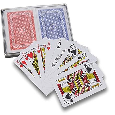 Domino Noir Adulte - Lot de 2 jeux de cartes -