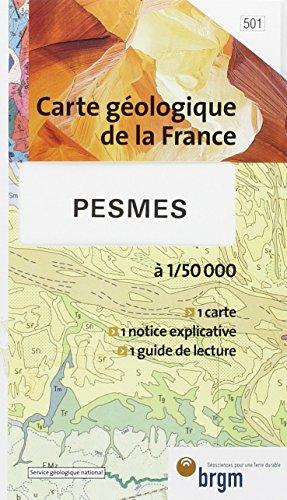 Carte géologique : Pesmes par Cartes BRGM