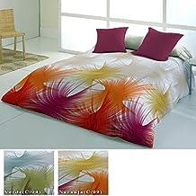 Funda Nórdica Modelo Lavanda, Color NARANJA (C/09), Medida Cama de 150 · 240x260cm