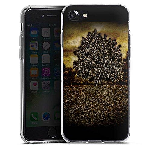 Apple iPhone X Silikon Hülle Case Schutzhülle Baum Mystik Wald Silikon Case transparent