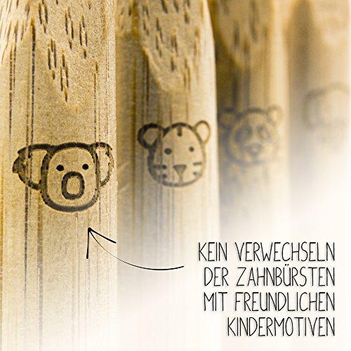 Kinderzahnbürste aus Bambus – 4er Set – Plastikfrei verpackt - 6