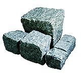 Hamann Mercatus GmbH Granit Pflaster - in Portugal grau 7/9 cm Big Bag 1000 kg - Natursteinpflaster für individuelle Garten & Weggestaltung