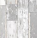Klebefolie Scrapwood grau - Möbelfolie altes Holz - Dekorfolie 45x200 cm - Selbstklebefolie Holzdekor Vintage