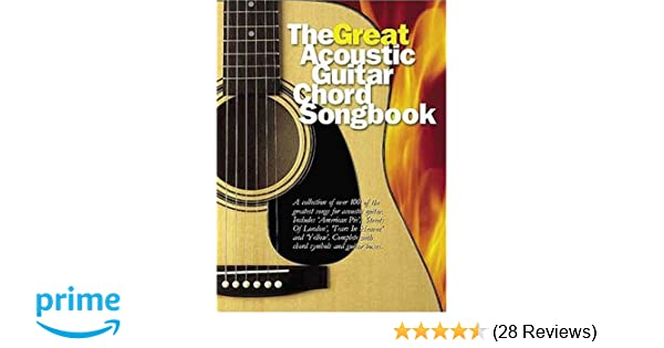 The Great Acoustic Guitar Chord Songbook: Amazon.co.uk: Nick Crispin ...