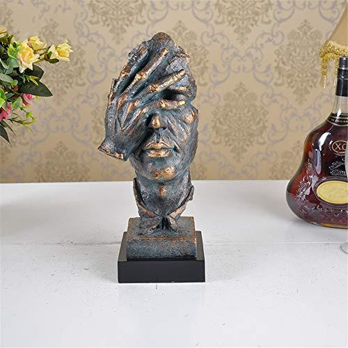 LWZY Escultura Adornos Pintados Mano pensadores,Decoraciones