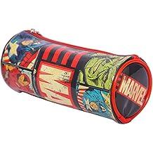 HMI Marvel Avengers PVC Embossed Pencil Bag (Multicolor)