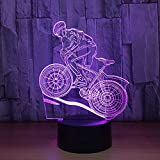 Best Bikes Speakers - Mountain Bike Rider 3D Night Light 7 Colors Review