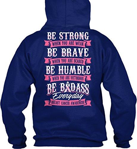 Bequemer Hoodie Damen / Herren / Unisex von Teespring   Originelles Outfit für jeden Anlass und lustige Geschenksidee - Breast Cancer Awareness (Breast Kleidung Cancer Awareness)
