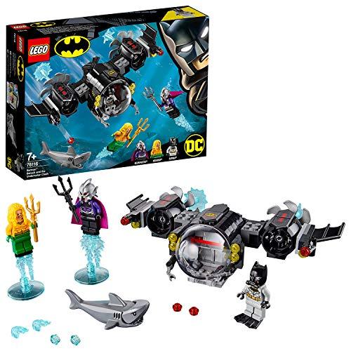 Batman y Aquaman se preparan para la gran batalla contra el Amo del Océano, ayúdalos en su trepidante aventura con este set de la colección LEGO Super Heroes DC. Este set que cuenta con 174 piezas te permitirá construir el alucinante submarino de Bat...