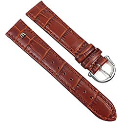 Maurice Lacroix Louisiana look Replacement Band Watch Band Leather Kalf XL brown 21610S, width:19mm