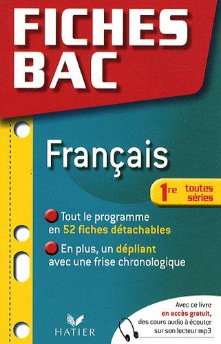 Français 1e, toutes séries
