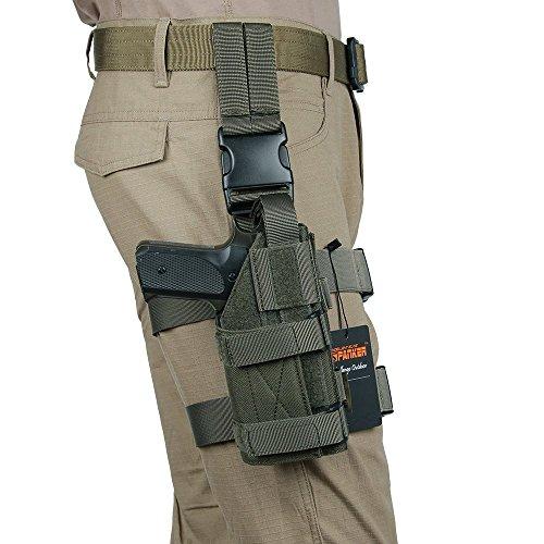 EXCELLENT ELITE SPANKER Taktisch Leg Mag Pouch mit Verstellbarem Rechten Bein Mag Pouch Nylon(Olivgrün)