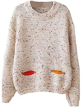 Cosanter 111419XVUO990 - Jersey de mujer de punto, manga larga