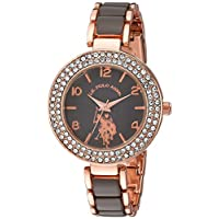 U.S. Polo Assn. Women's Grey Dial Alloy Band Watch - USC40247AZ