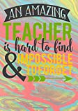 An Amazing Teacher Is Hard To Find & Impossible To Forget: 2019-2020 Academic Planner for school teachers