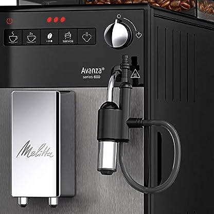Melitta-Avanza-F270-100-Kaffeevollautomat-mit-integriertem-Milchsystem-abnehmbaren-XL-Wassertank-und-Bohnenbehter-sowie-flsterleisem-Mahlwerk-20-cm-Breite-mystic-titan