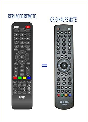 Vinabty sustituir mando a distancia de TV CT-8023para Toshiba 19DL833B 19DL833G 19DL834B 22DL833B