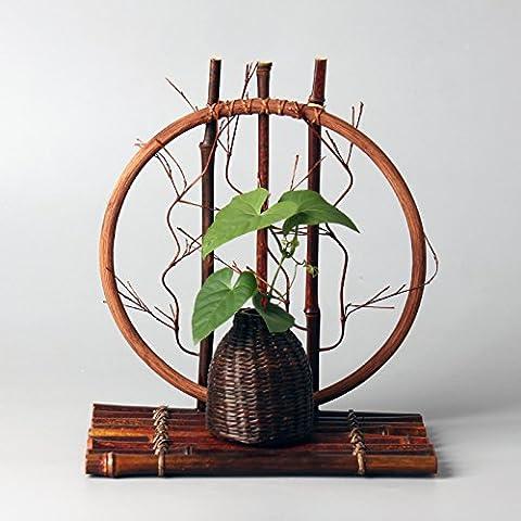 LUYEMEN Adornos de arte Zen del téLos floreros de bambú japonés del té de flores flores art nouveau creative,1 floreros producto