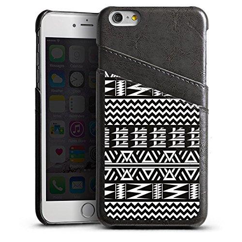 Apple iPhone 5 Housse Étui Silicone Coque Protection Tribal Motif Motif Étui en cuir gris