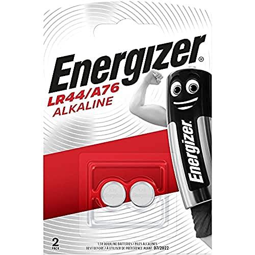 Oferta de Energizer LR44/A76: Pilas, Paquete de 2, Plata