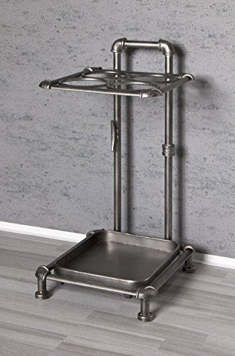 Haku-Möbel 13813 Schirmständer, Metall, anthrazit, 33 x 29 x 60 cm