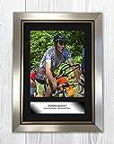 Engravia Digital Romain Bardet Poster Reproduction d'A4de Photo dédicacée Silver Frame