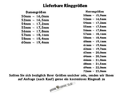 Eheringe Verlobungsringe Titanringe aus Titan mit Zirkonia und Aussenlasergravur H137
