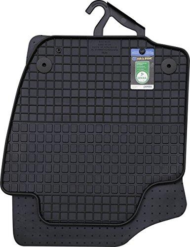Gummimatten Skoda Rapid Fußmatten Gummi Original Qualität Rapid + Spaceback ab 2012 Auto Allwetter 4-teilig schwarz (Gummi Fußmatten Auto)