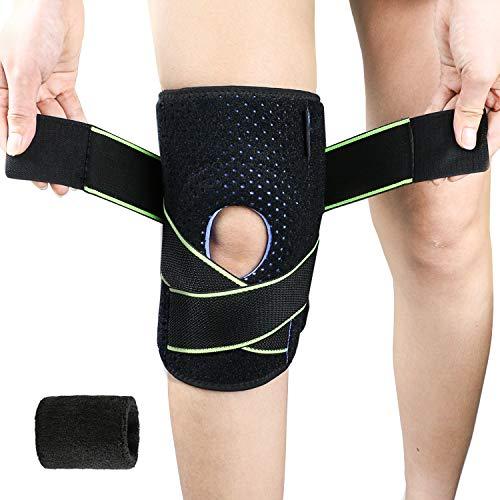 Bearbro kniebandage,Knieorthese Patella-Stabilisator für Sport, Gelenkschmerzen, Meniskusschmerzen, Einstellbare Kompression - Kniestütze für Damen und Herren -