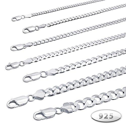 Soul-cats® véritable chaîne en argent sterling chaîne collier gourmette en argent 925 roi 3 4 7 9 Taille: 5 mm; longueur: 45 cm