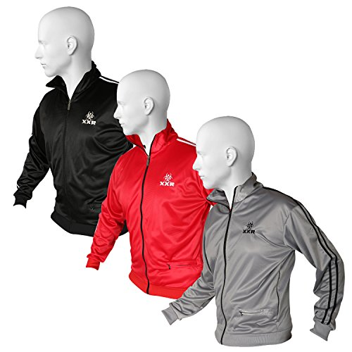 81af86c673a XXR Stripe Jacket TT Mens Track Tracksuit Top Casual Activewear Zip Up  Jogging Casual Clothing Running