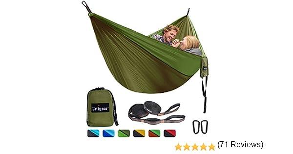 con extra Sleeping Eye Mask Blindfold Unigear Amaca da campeggio portatile 210T Single//Double Paracadute in nylon per viaggi allaperto Escursionismo Backyard Garden Beach