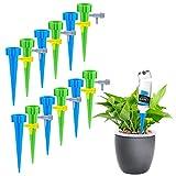 12 Stück Automatisch Bewässerung,Bewässerungssystem Zimmerpflanzen Wasserspender mit Slow Release Control Ventil Schalter für Keramik Zimmerpflanze Spikes Bewässerung, Bonsai, Pflanzen, Blumen