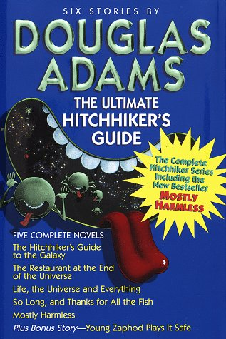 Buchseite und Rezensionen zu 'The Ultimate Hitchhiker's Guide to the Galaxy, A Trilogy in Five Parts' von Douglas Adams