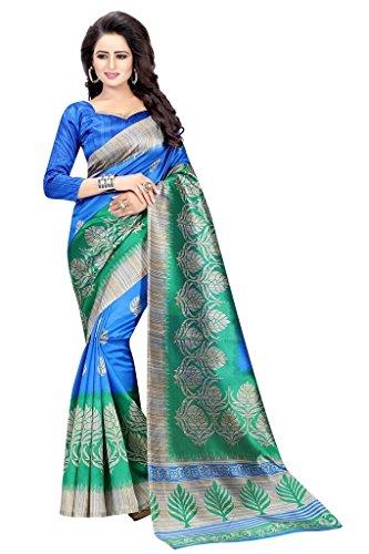 Vinayak Trendz Women's Art Mysore Printed Silk Saree With Blouse Piece (...