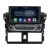 8 Zoll Doppel Din Android 6.0 OS Autoradio für Toyota Yaris 2014 2015, kapazitiver Touchscreen mit 8 Core 1.5G Cortex A53 CPU 32G Flash und 2G DDR3 RAM GPS Navi Radio DVD Player 3G/WIFI Aux Input OBD2 USB/SD DVR