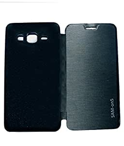 Aara Rich Diary Smart Case Flip Cover Pouch Battery Back For Samsung Galaxy On5 - Black