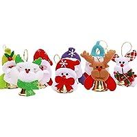 Kanggest 12 Piezas Adorno Navidad Colgante Para Navidad Arbol Decoración Papá Noel Campana Navidad Colgante Para Interior Casas Puerta Decoración(estilo aleatorio)